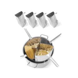 INOX posuda sa 4 SEKCIJE za kuhanje TIJESTENINE.