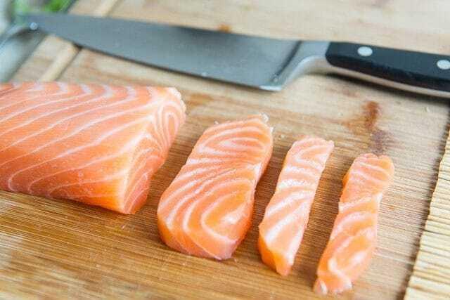 Rezanje lososa za suši MASTER OPREMA