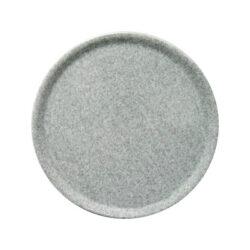 Porculanski tamno sivi pizza tanjur